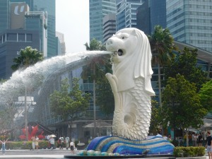The famous Merlion statue!